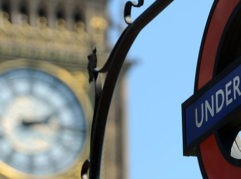 "An underground sign is pictured next to the ""Big Ben"" clock Tower on July 24, 2012, in London three days before the start of the London 2012 Olympic Games. The London Underground train system, affectionately known as the Tube, celebrates its 150th anniversary on January 9, 2013 bursting at the seams with four million passengers a day but undergoing modernisation works to bring it into the 21st century.  AFP PHOTO / JOHANNES EISELEJOHANNES EISELE/AFP/Getty Images"