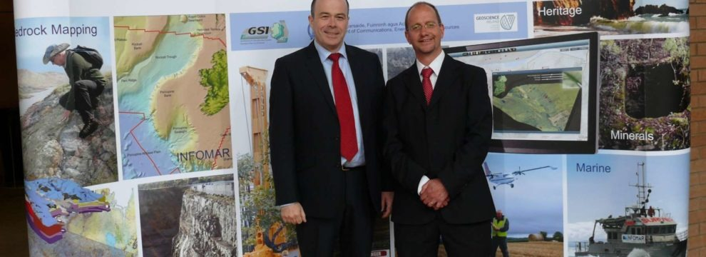 Minister Naughten (left) and Koen Verbruggen (right)