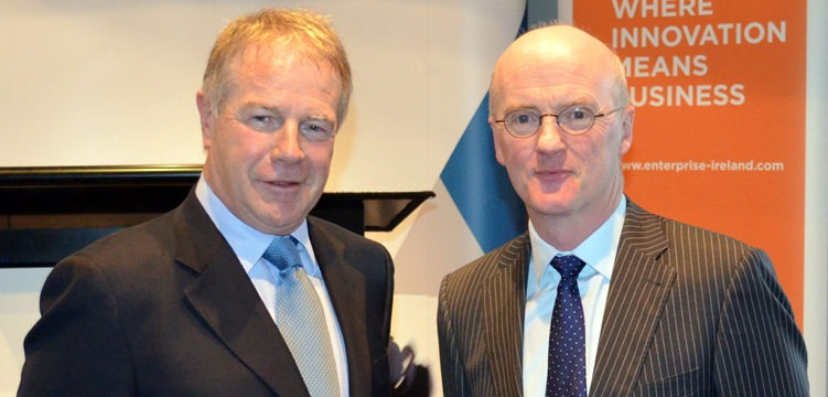 On the right; Noel White, Ireland's Ambassador to Australia and Sean Finlay, Director, Geoscience Ireland