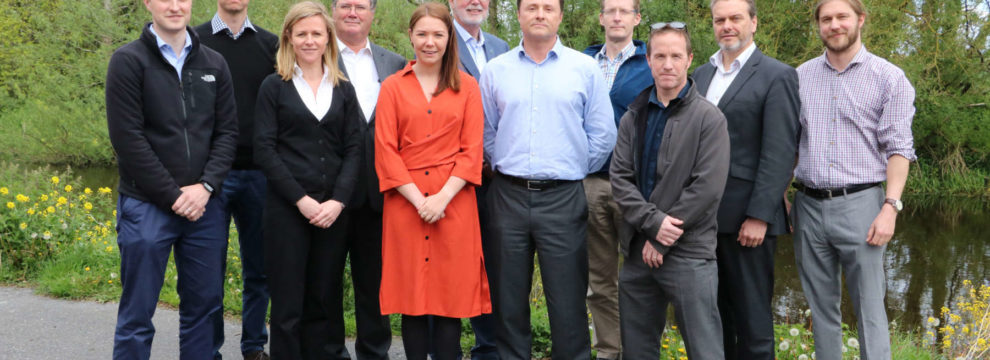The new FT geotechnical team. Gerry Kane (Senior Geotechnical Engineer), Ian Higgins (Principal Geotechnical Engineer), Tanya Ruddy (Principal Scientist), Ray O'Dwyer (Director), Niamh Deehan (Human Resources Manager), Eamon Timoney (Managing Director), Beren De Hora (Director), Paul Jennings (Technical Director), Paul O'Reilly (Civil Engineering Technician),  David McHugh (Director), Tom Clayton (Senior Geotechnical Engineer)
